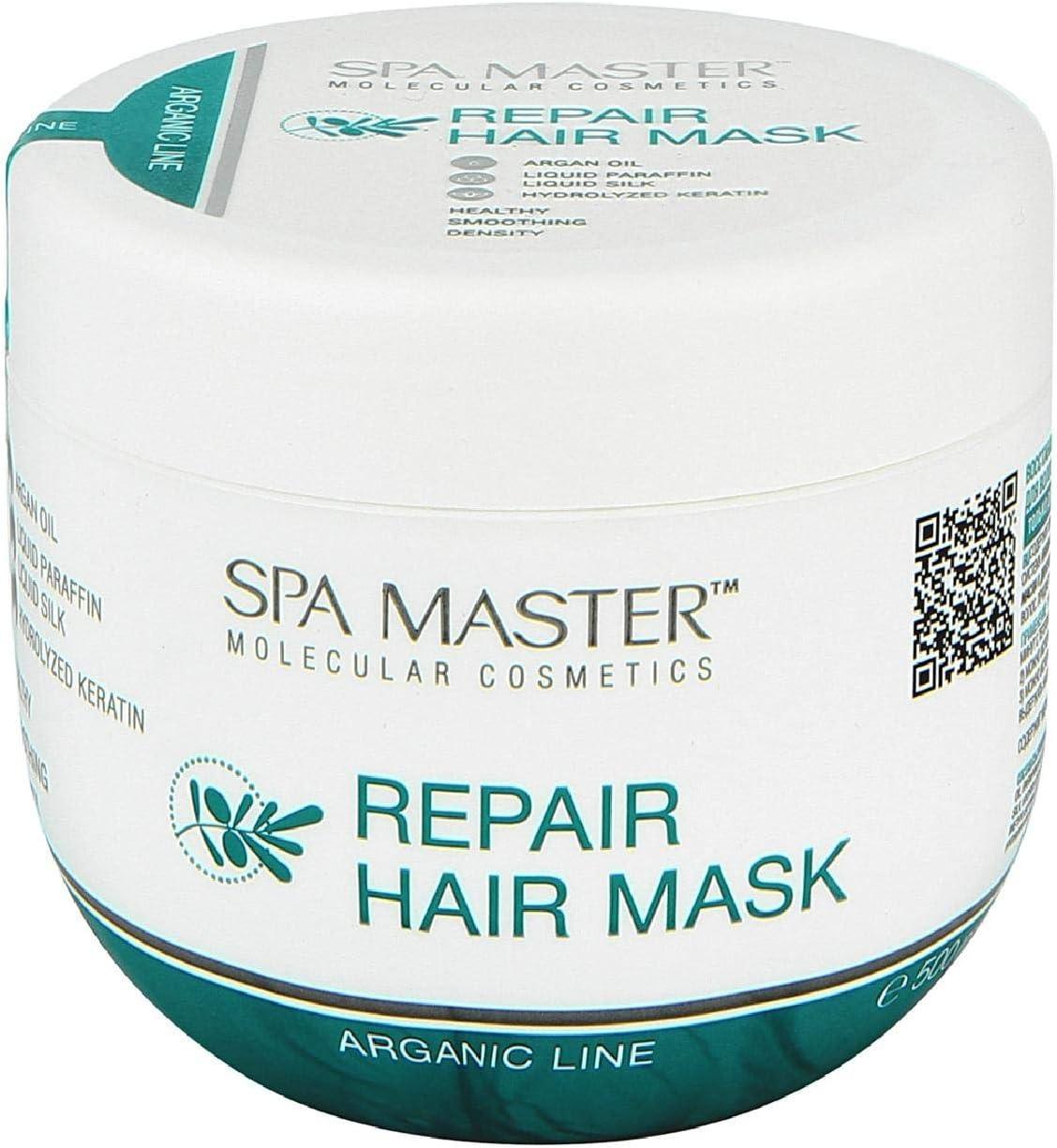 Spa Master Profesional - Mascarilla reparadora de pelo con Aceite de Argán