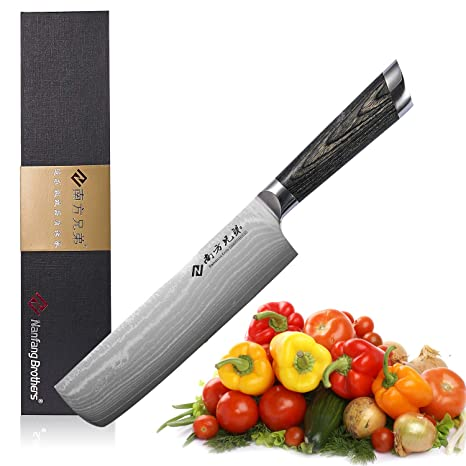 Amazon.com: Cuchillo de chef de 7.0 in, cuchillo Nakiri ...