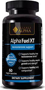 Testosterone Booster for Men - Alpha Fuel XT by Science of Alpha - Men's Extra Strength Natural Increase in Strength, Stamina and Endurance. Lean Muscle Growth and Fat Burning Fuel (30 Servings)