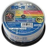 HI-DISC 6倍速対応BD-R 20枚パック 25GB ホワイトプリンタブルハイディスク HDBDR130RP20