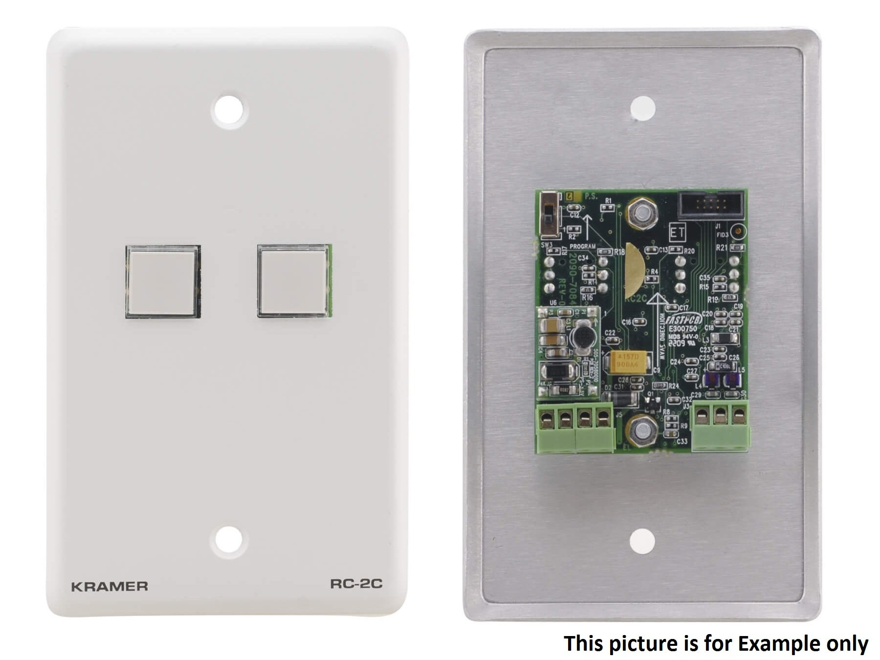 Kramer RC-2C(G) Wall Plate - RS-232 and IR Controller - Gray