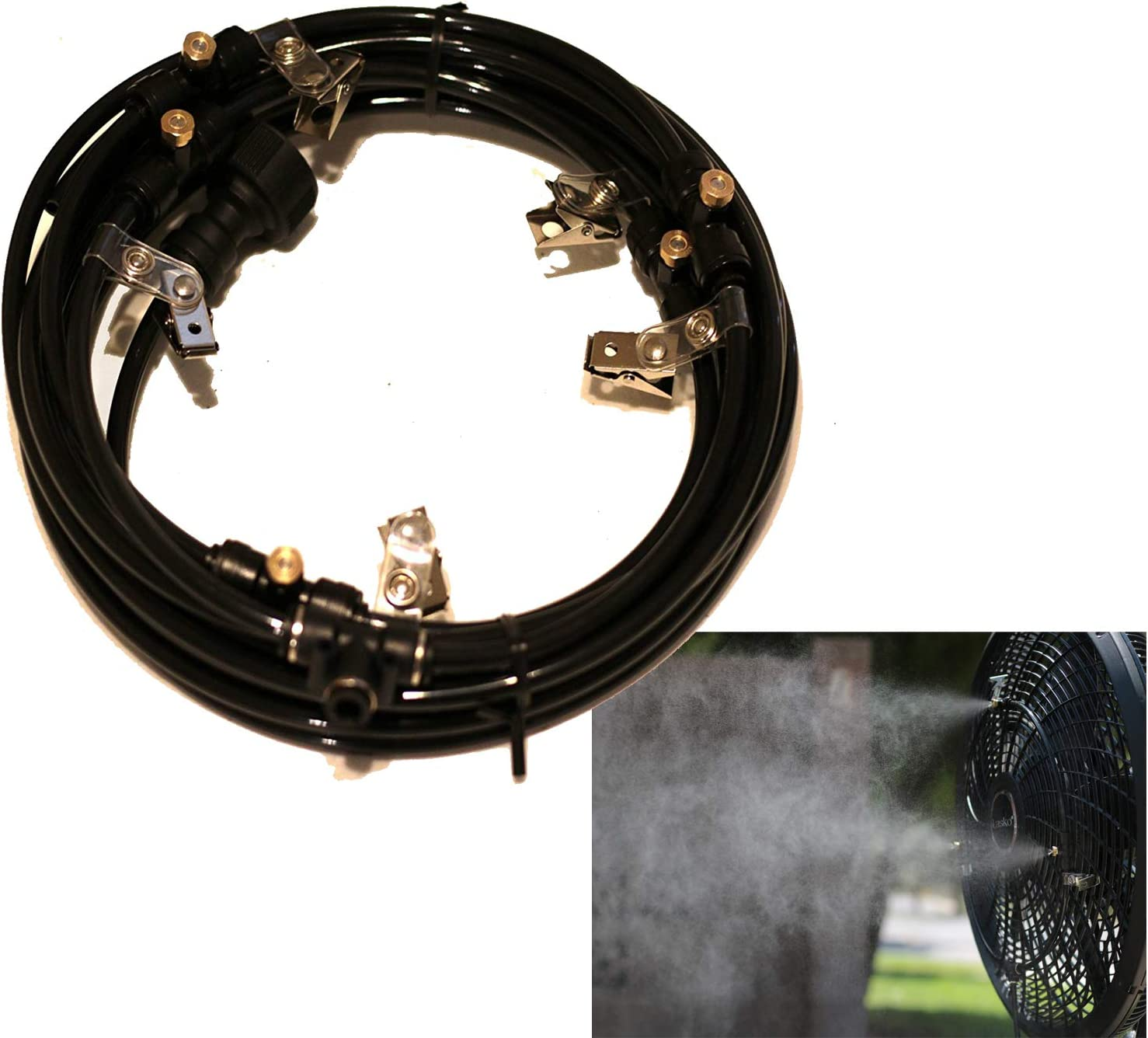 """AZCOOLMIST Misting Fan Ring 12"""" 4 Nozzle Made in USA"""