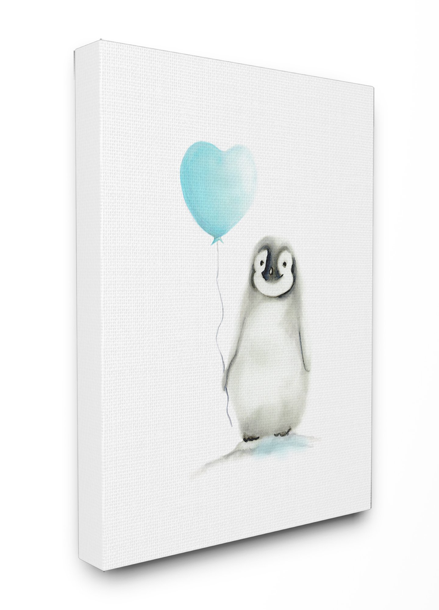 Stupell Industries Baby Penguin with Blue Balloon XXL Stretched Canvas Wall Art, 30 x 1.5 x 40, Proudly Made in USA by The Kids Room by Stupell