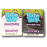 Sculpey Bake Shop Oven-Bake Clay Bundle - Black and White (2.4 oz. each)
