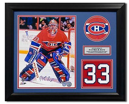 hot sale online ab37f 2214e Patrick Roy Montreal Canadiens Autographed Autograph Retired ...