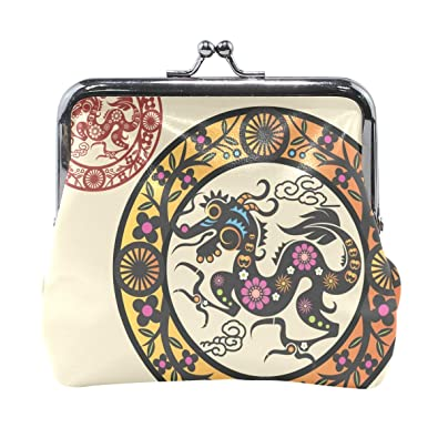 ef72d6f28004 Amazon.com: Coin Purse Chinese Astrology Womens Wallet Clutch Bag ...