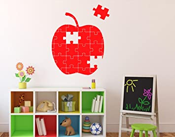Puzzles Apple Wall Vinyl Decal Abstract Mosaic Design Wall Sticker Puzzle Pieces Home Interior Living Room  sc 1 st  Amazon.com & Puzzles Apple Wall Vinyl Decal Abstract Mosaic Design Wall Sticker ...