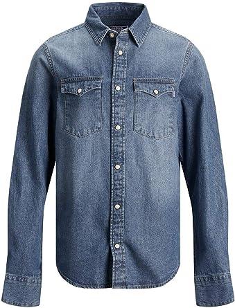 Jack & Jones Jjewestern Sheridan Shirt L/S Noos Jr Camisa Vaquera para Niños