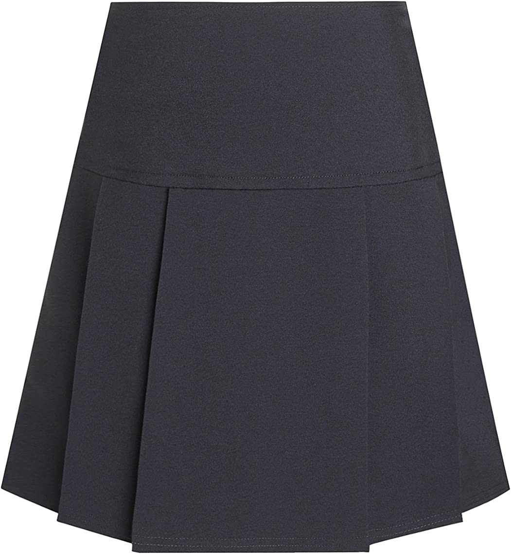 David Luke School Uniform Junior Girls Drop Waist Pleated Summer School Skirt Schoolwear