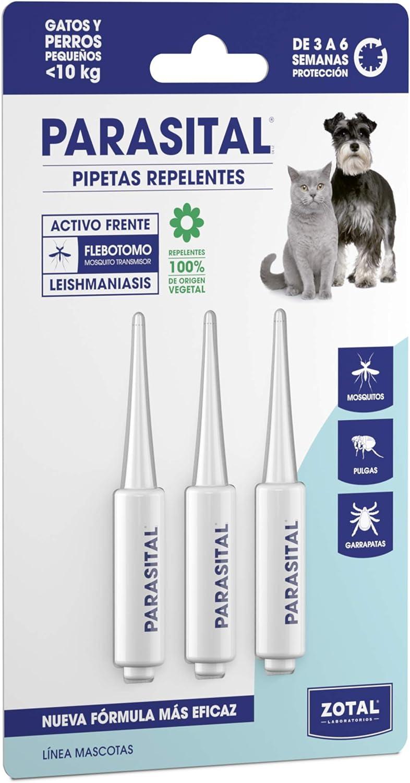 Zotal Parasital Pipetas Perros Pequeños y Gatos hasta 10 kg