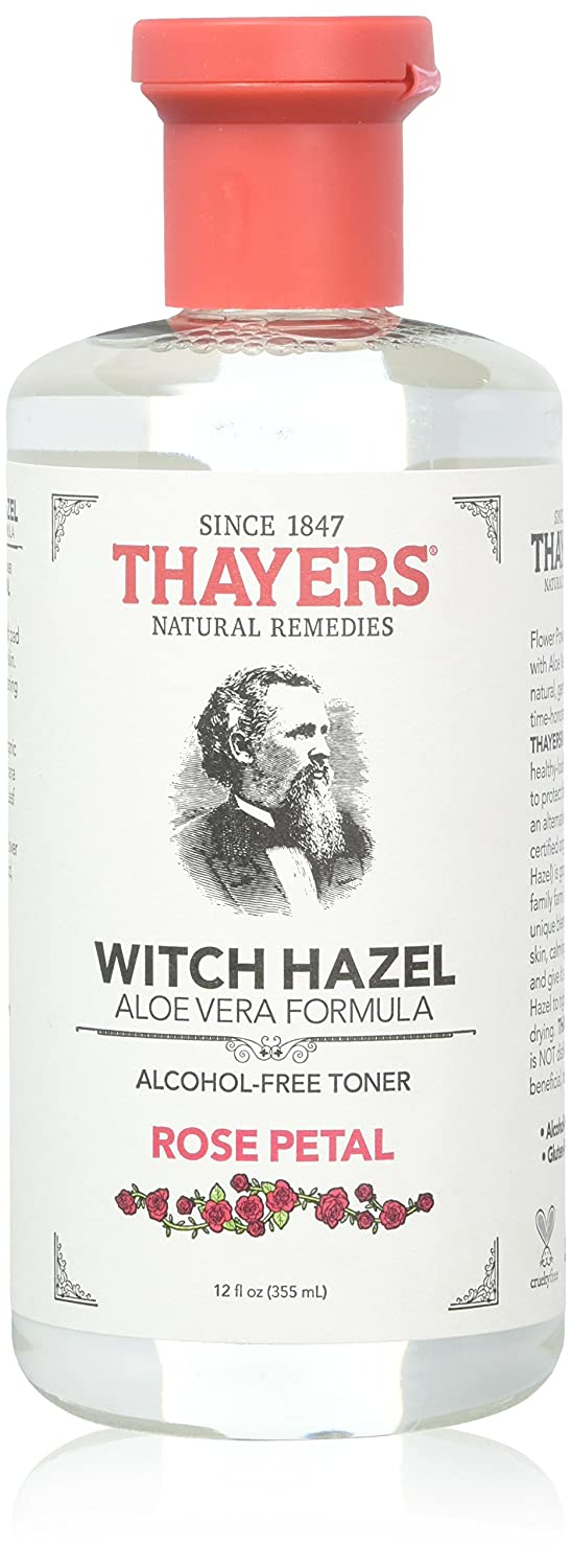 Thayers Alcohol-free Rose Petal Soothing Witch Hazel for Face & Skin with Aloe Vera, 12 oz (Pack of 3) 12 oz (Pack of 3) Thayer's LEPUSAPNAC106