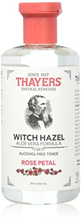 Thayers Alcohol-free Rose Petal Soothing Witch Hazel for Face Skin with Aloe Vera, 12 oz Pack of 3