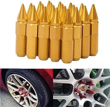 Black FCD Set of 20 12x1.25 Extended Spike Tuner Wheel Rim Lug Nut Tire Screw Refit