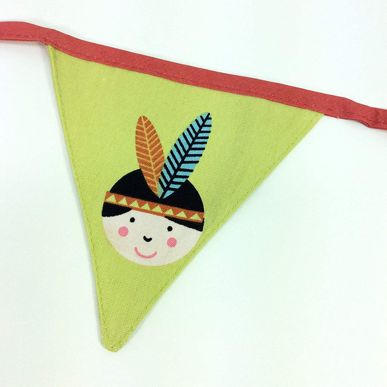 Gisela Graham vaquero y Indian banderines