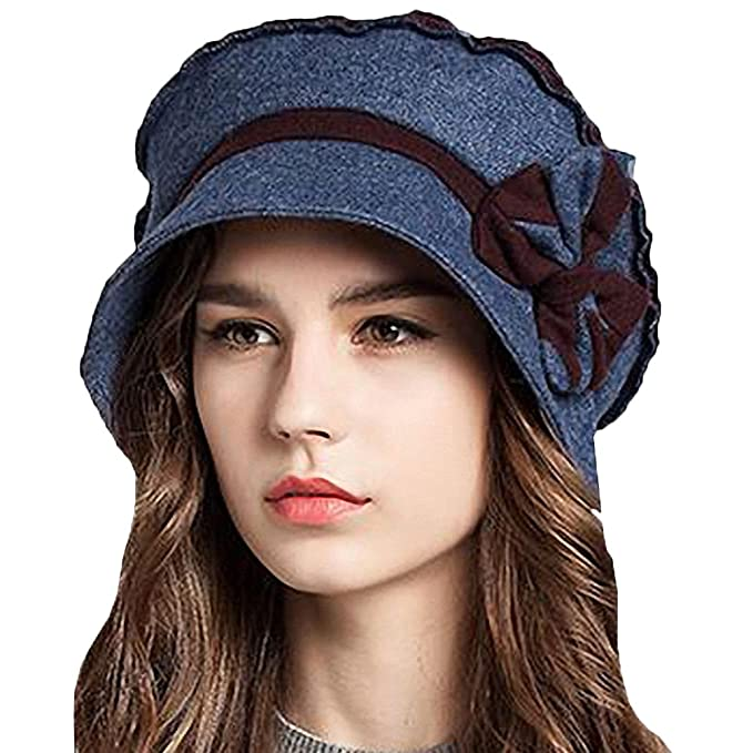 Regency Dress, Shoes | Jane Austen Clothing Maitose Womens Decorative Bow Wool Bucket Hat $26.99 AT vintagedancer.com