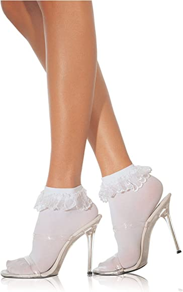 New Leg Avenue 3013 Anklets With Lace Ruffle Socks