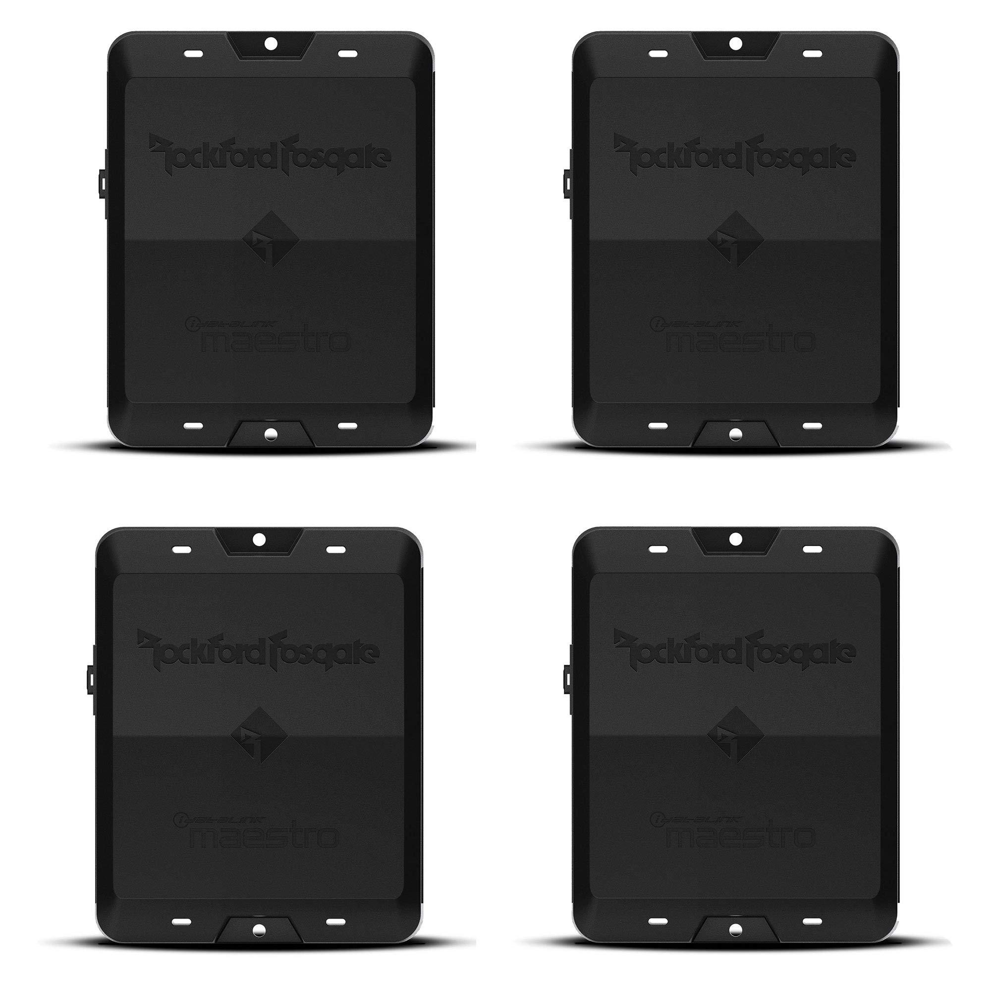 Rockford Fosgate DSR1 8 Channel Interactive iDatalink Maestro Signal Processor (4 Pack)