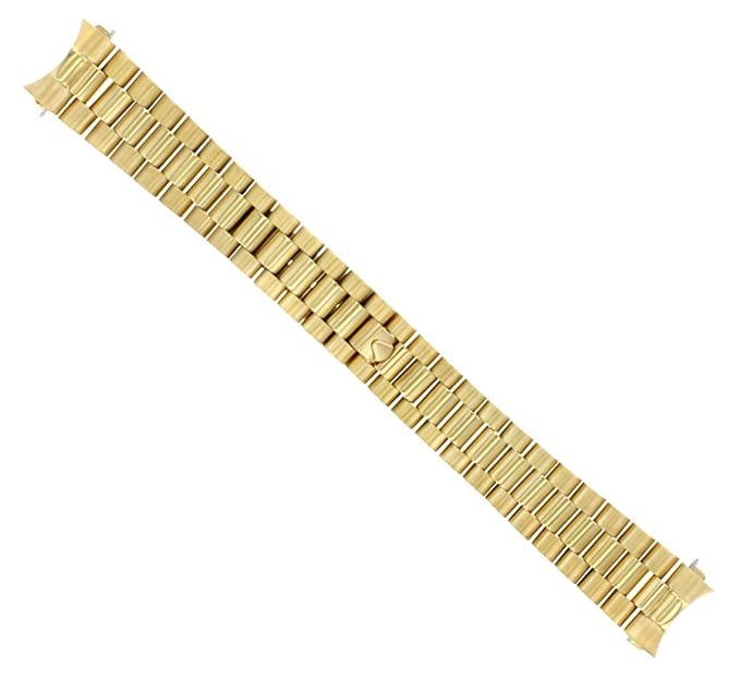 Amazon.com 20MM 18K Gold President Watch Band for 36MM