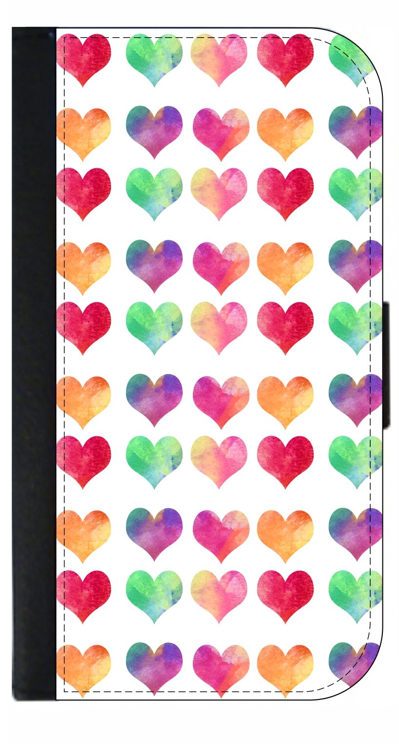 Watercolor Hearts - Passport Cover / Card Holder for Travel