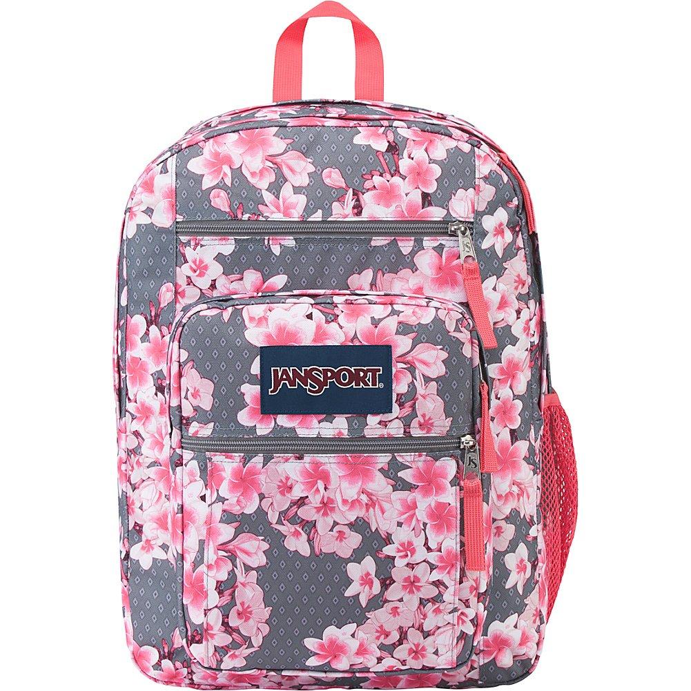 JanSport Unisex Big Student Diamond Plumeria Pink Backpack