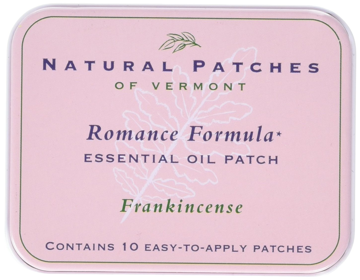 Natural Patches of Vermont Romance Formula Essential Oil Body Patches, Frankincense, 2.6 Ounce