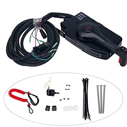 for mercury 8pin outboard boat side mount remote control box cableSide Mount Control Box Including Mercury Outboard Remote Control Parts #19
