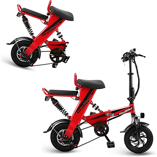 AA100 Bicicleta eléctrica, Plegable para Adultos, Conveniente Dos ...