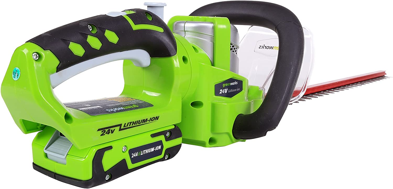 Greenworks Tools set cortasetos sin cable de 24 V de litio-ion, verde