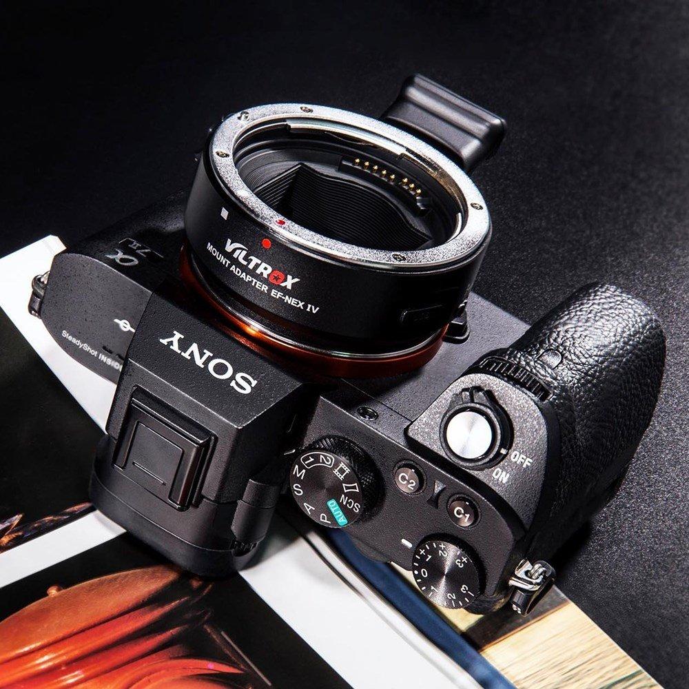 Viltrox EF-NEX IV Auto Messa a fuoco obiettivo Adattatore per obiettivo Canon EF EF-S a Sony E Mount A6300 A6000 A5100 A5000 A3000 NEX 7//6//5N//5R//3//A7 II A7R A7RII A7SII