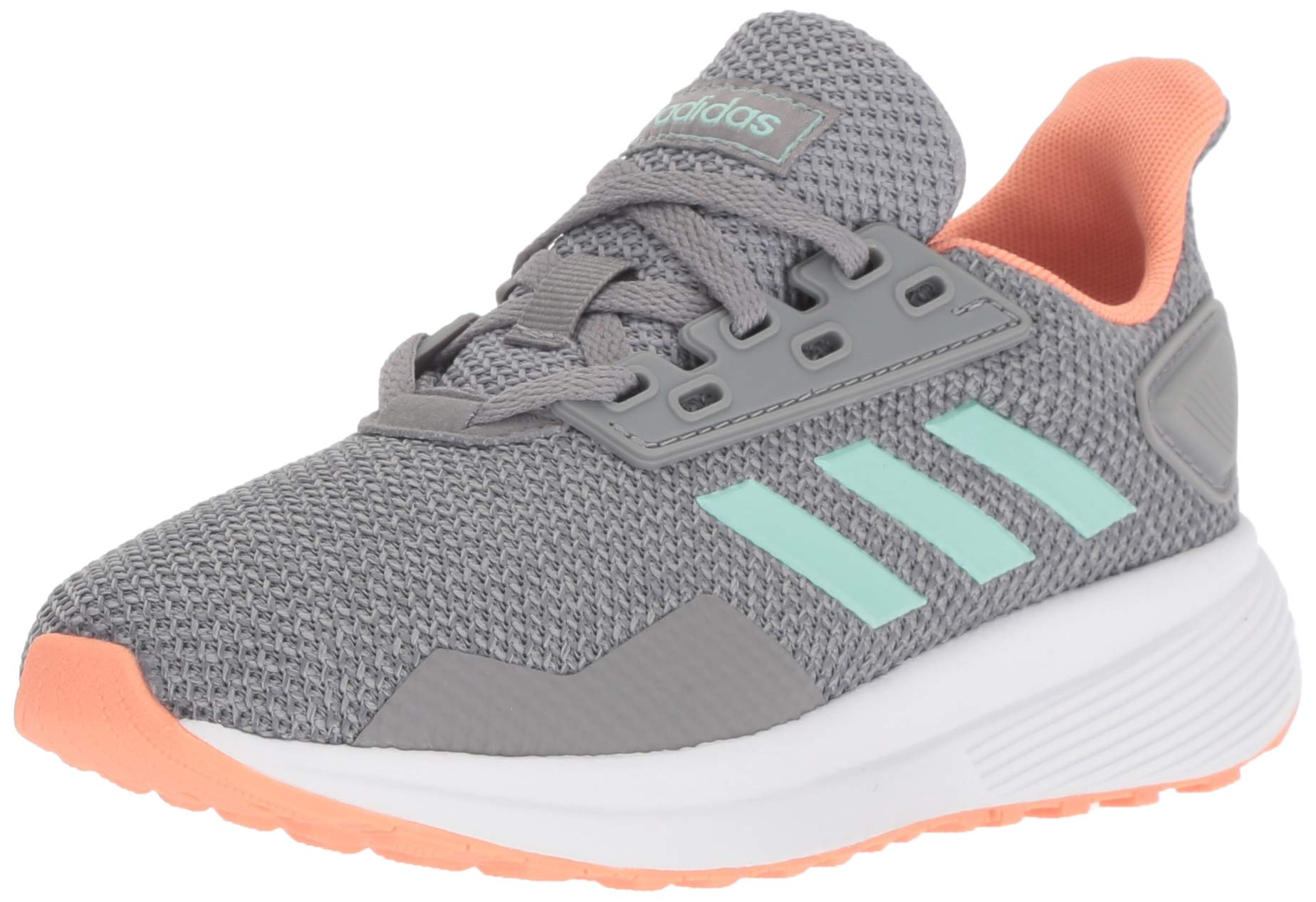 adidas Performance Unisex-Kids Duramo 9 Running Shoe, Grey Heather/Clear Mint/Granite, 13.5K M US Little Kid