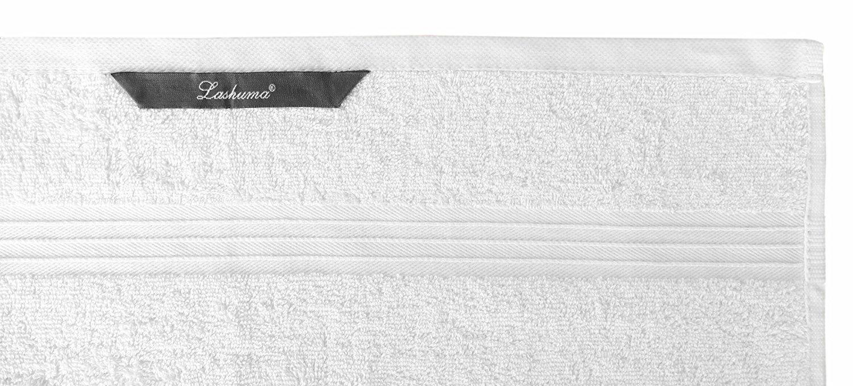 Lashuma Saunatuch weiß mit Namen Bestickt - - - Frotteeserie Linz – Frotteehandtuch 70x200 cm B075MJ55JV Handtücher fd8de4