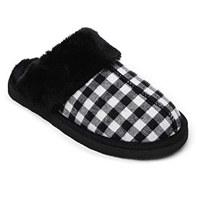Minnetonka Women's Chesney Slippers - Black Plaid US | Slippers