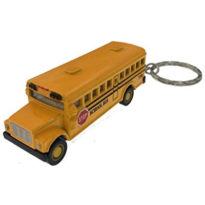 Kintoy Box 12: Die-cast Mini School Bus Keychain: Toys & Games