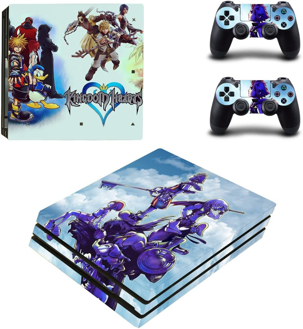 Video Games & Consoles Kingdom Hearts Vinyl Skins Decals Stickers Set For Ps4 Pro Consoles Controllers A Great Variety Of Goods