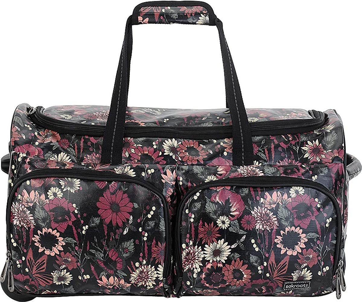 f905b1bb9 Sakroots Women's New Adventure Rolling Duffel Bag, Graphite In Bloom, One  Size