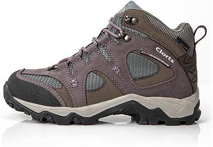 8d902285f31 Women's Mid Waterproof Hiking Boot Nubuck Leather Outdoor Trekking Shoe