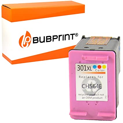 Bubprint Cartucho Compatible con HP 301 XL para Impresora DeskJet 1050 1055 1510 2050s 2054a 2544 3059a Envy 4502 4504 5534 OfficeJet 4631 4634 Color