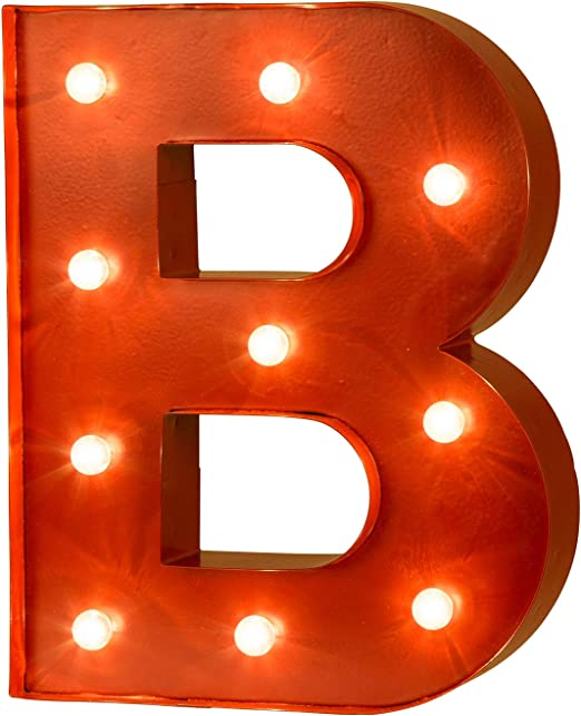 Glitzhome Marquee LED Letter C Lights Sign Wall Fall Xmas Decor Battery Operated