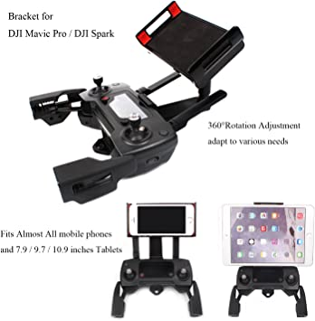 Adjustable Cellphone Tablet Monitor Holder Bracket for DJI Mavic Pro DJI Spark Drone Transimitter Accessories ,Fits Almost All the Smartphones and 7.9 / 9.7 / 10.9 inches Tablets: Amazon.es: Juguetes y juegos