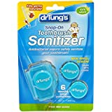 Dr. Tung's, Snap-On Toothbrush Sanitizer, 2 Toothbrush Sanitizers (Assorted Colors) (並行輸入品)