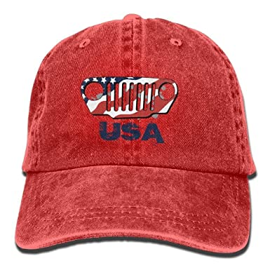 Presock Gorras De Béisbol American Jeep Denim Hat Adjustable Mens ...