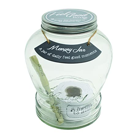 Memory Jar with Tickets, Pen, and Decorative Lid
