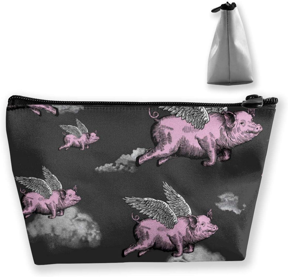 Regalo perfecto – Bolsa de maquillaje impermeable de gran capacidad galés Corgi perro cachorro y limón trapezoidal bolsa de viaje lavado cosmético bolsa soporte para lápices con cremallera