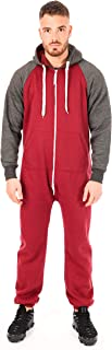 newfacelook Mens Onesie All in One Adult Jumpsuit One Piece Unisex Nightwear