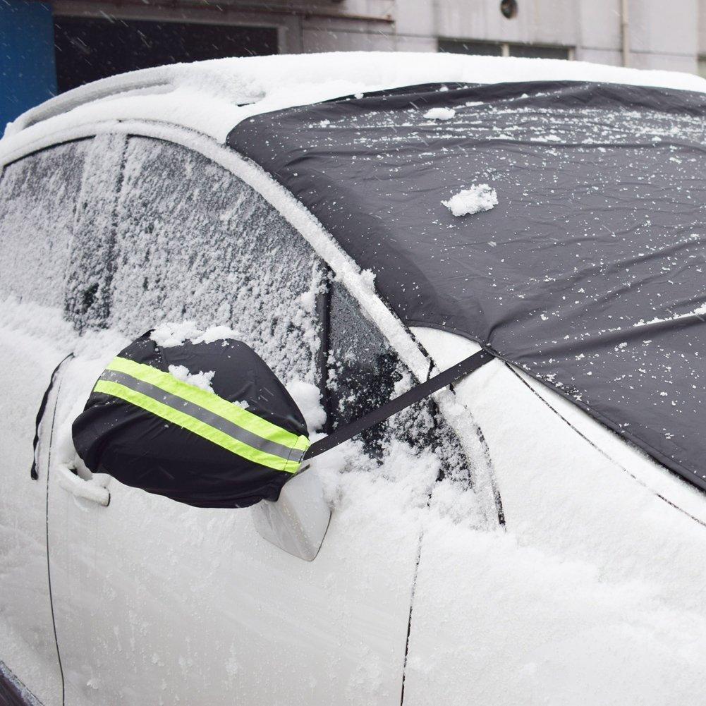 Pickup HONCENMAX Auto Seitenspiegelabdeckung Auto Au/ßenansicht R/ückspiegel Abdeckungen Truck Schnee Eis und Frost Schwarz SUV Universal 12  x 10  F/ür Autos