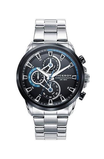 b0cf32c3f88a Viceroy Reloj Cronógrafo para Hombre de Cuarzo con Correa en Acero  Inoxidable 46733-57  Amazon.es  Relojes
