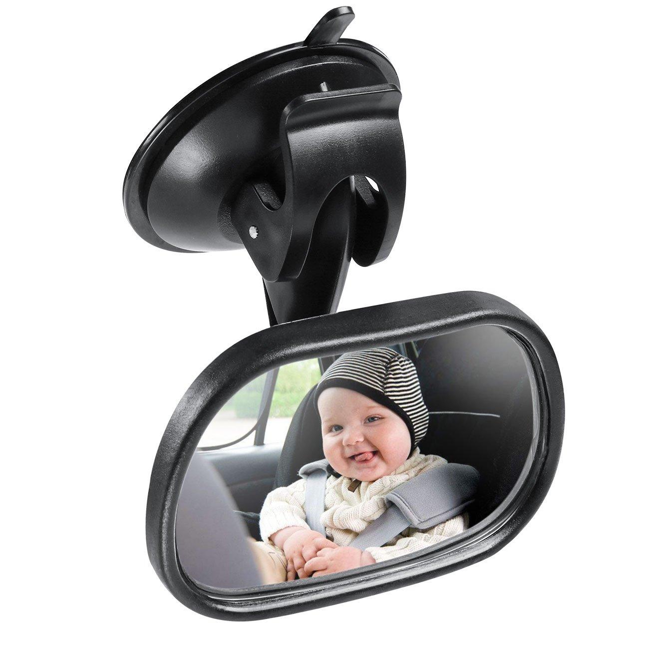Spiegel Auto Baby, Rücksitzspiegel für Babys und Kinder, Sicherheitsspiegel für Kinderschale, Babyschale, Rückwärtssitz, Rear View Mirror Car mit 360° Schwenkbar Shatterproof Material Rückwärtssitz BRAND CENTRE