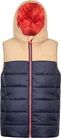 Mountain Warehouse Chaleco Acolchado Rocko para niños - Impermeable - Chaleco Acolchado de Microfibra - 2 Bolsillos Delanteros - Cuerpo cálido para niños y niñas