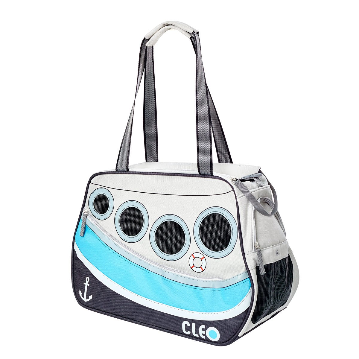 Cleo By Teafco Petoboat Airline Approved (19''Medium) Pet Carrier - Ocean Blue/Gray