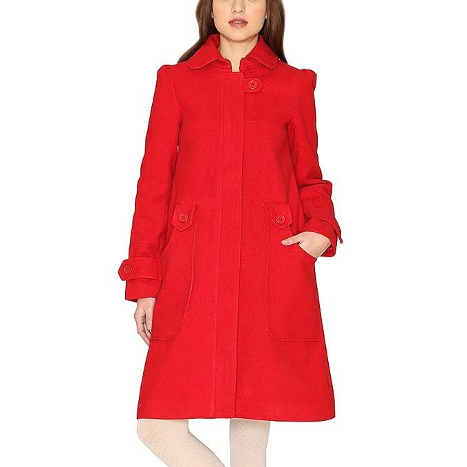 Pepa Loves - Abrigo - para mujer rojo Large : Amazon.es: Ropa y accesorios